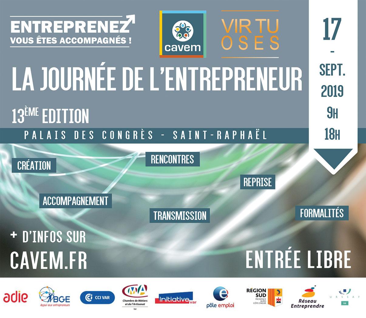La société Virtuoses Médias sera présente à la Journée de l'Entrepreneur à Saint-Raphaël.