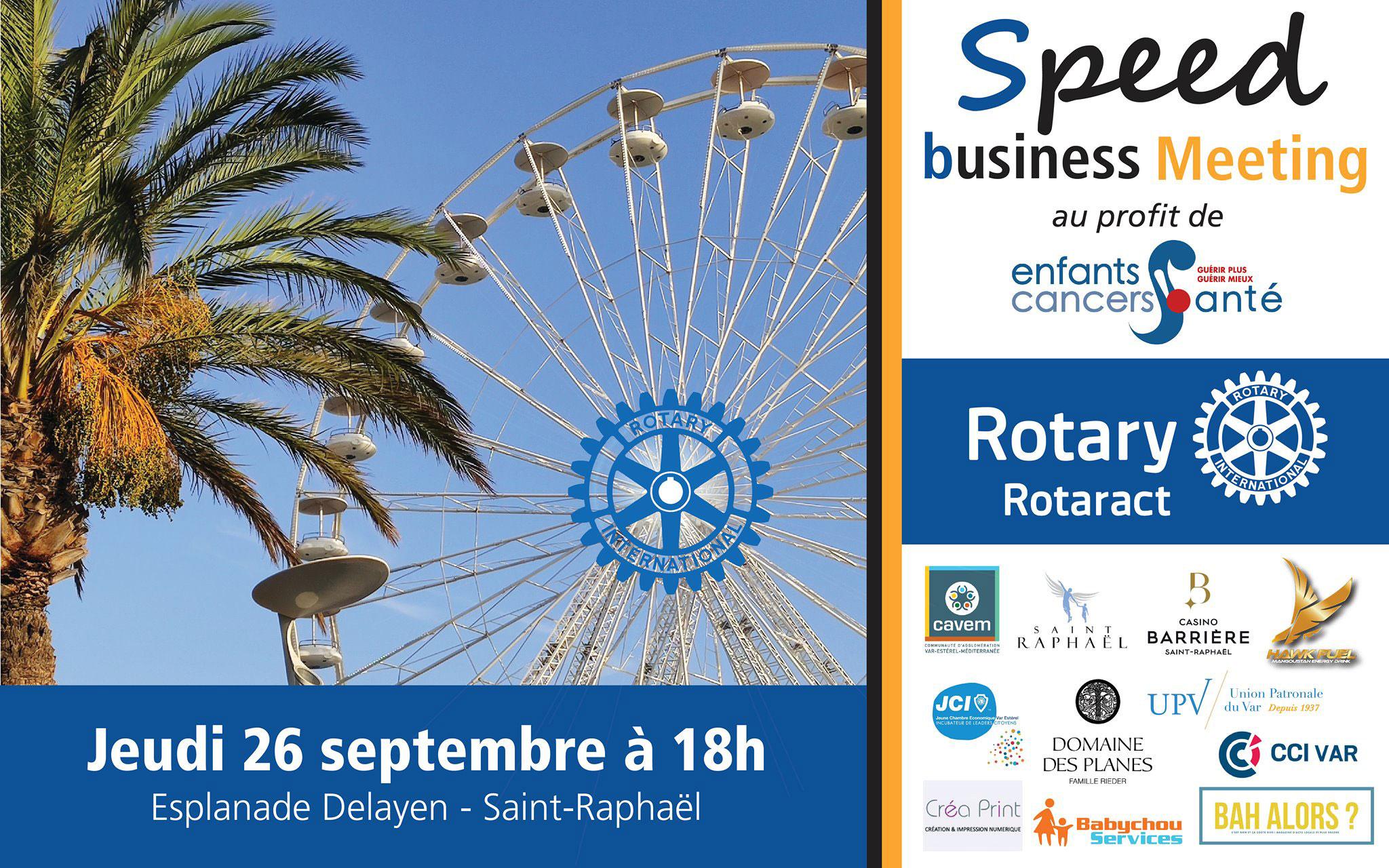 La société Virtuoses Médias développe son réseau en participant au Speed Business Meeting sur la roue de Saint-Raphaël.